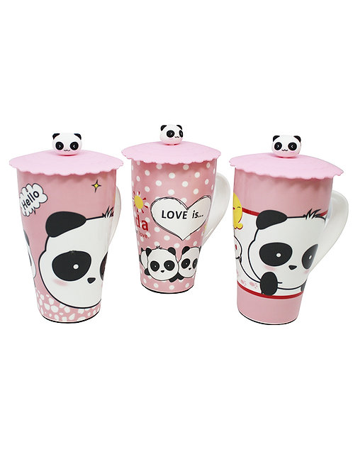 Panda Cup W/ Silicone Lid