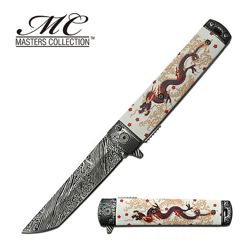 "8.1"" Overall Spring Assisted Knife White"