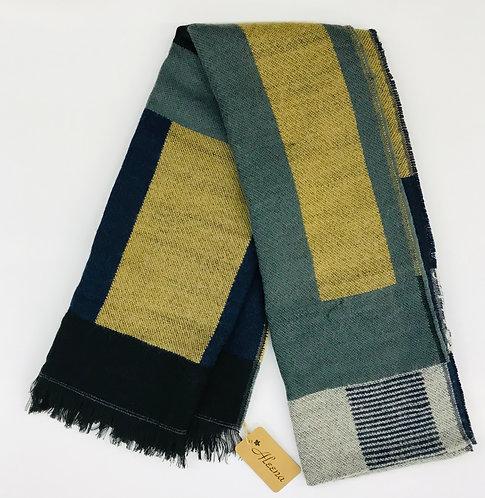 Soft Thick Shawl Textile Scarf Multi-Color