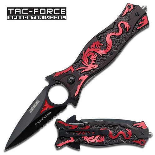 "4.5"" Closed Spring Assisted Knife Red"