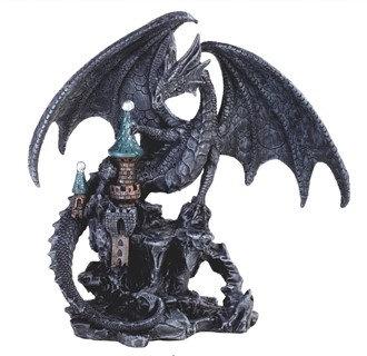 "7 3/4"", Black Dragon on Castle"