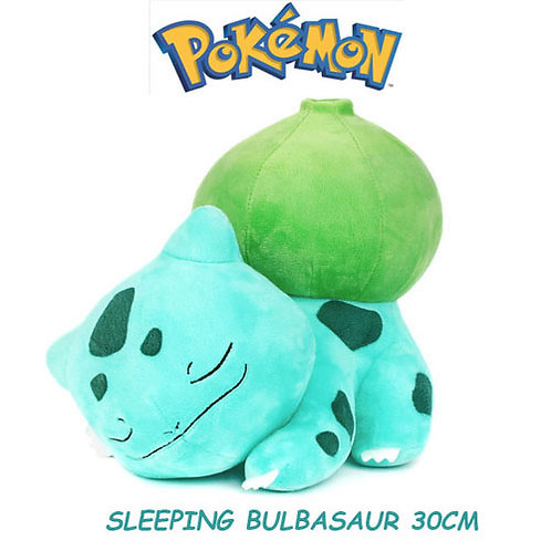 30cm, Pokemon Sleeping Bulbasaur Plush