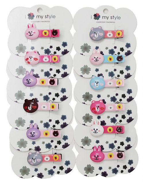 Hair Clip W/Animals Assorted Color
