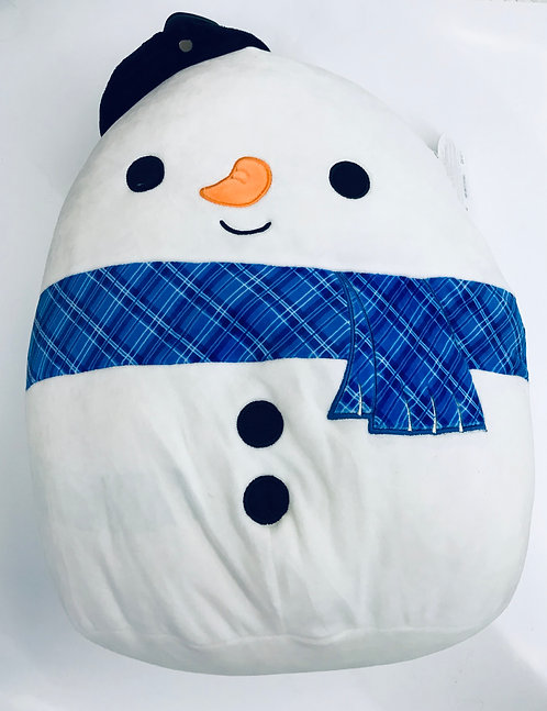 "16"" Squish Mallow Christmas Snow Man"