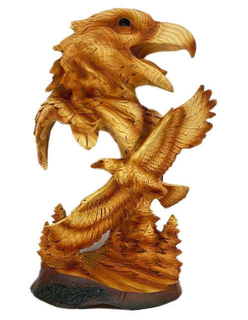 """12"""" Eagle Scene Statue"""