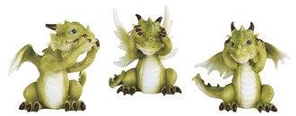 "3 1/2"", Cute No-Evil Dragon 3 PC Set"
