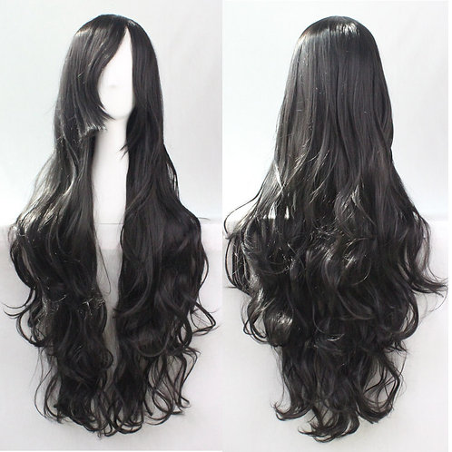 Black Curly Synthetic Long