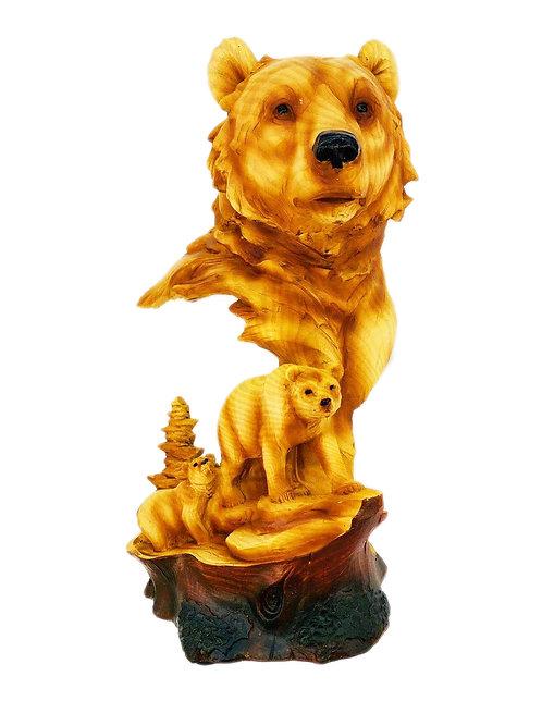 "12"" Bear Scene Statue"