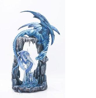 "Blue Dragon in Dragon Cave, 21"" high"