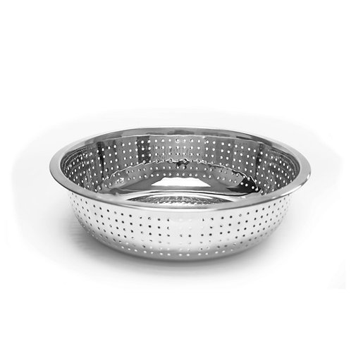 """13"""", Chinese Colanders W/ 4.5MM Holes, Stainless"""