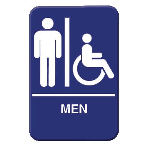 """6"""" X 9"""" , Men / Accessible"""