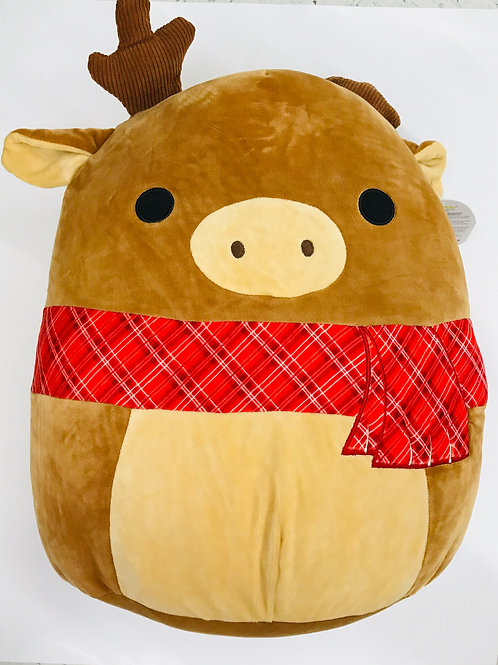 "12"" Squish Mallow Christmas Elk"