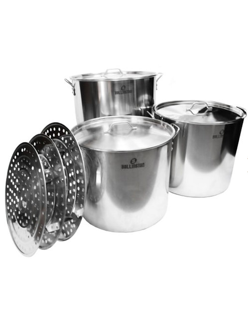 60QT Stainless Steel Steamers Set