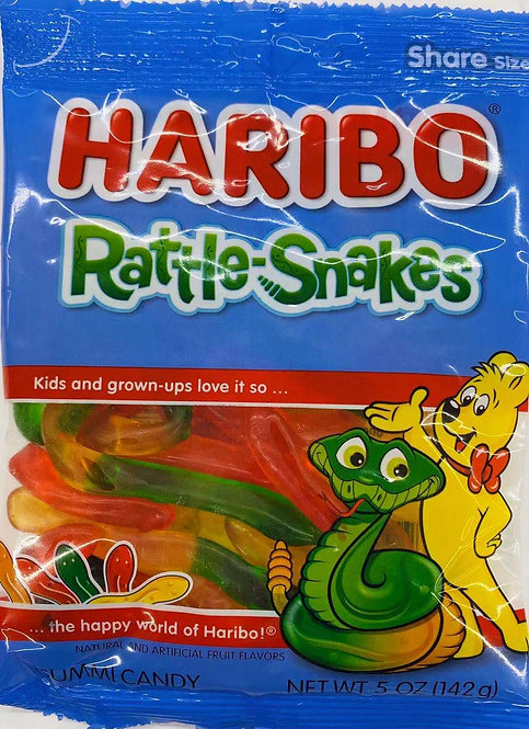 5oz Haribo Rattle-Snakes Gummy