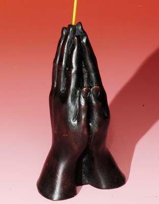 "4.5"" Resin Hand Incense Burner Praying Hands"
