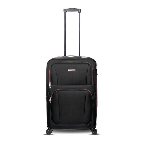 "24"" 4 Wheels Fabric Luggage Black"