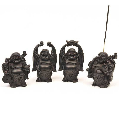 "3.25"" Happy Buddha Incense Burners"