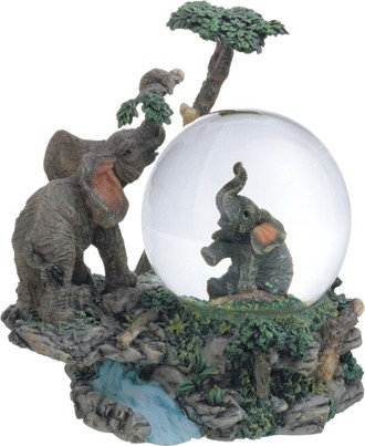 "4"",  Snow Globe Elephant"