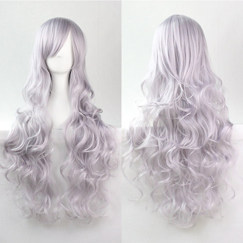 Light Gray Curly Synthetic Long