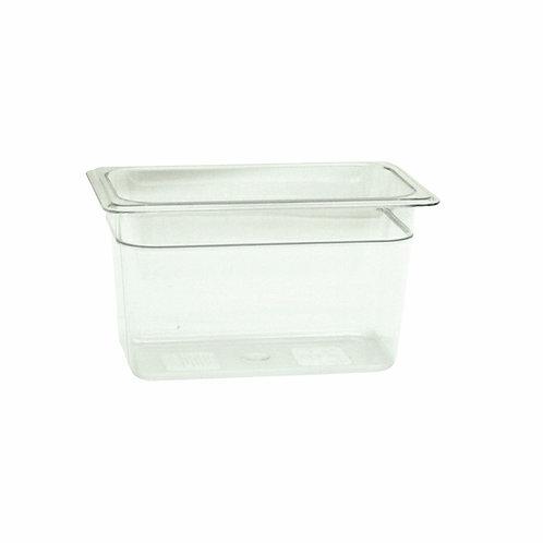 "Quarter Size 6"" , Deep Polycarbonate Food Pan"
