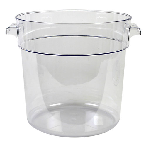 18QT Round Food Storage Container, PC, Clear