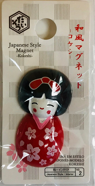 Cute Magnet Japanese Doll