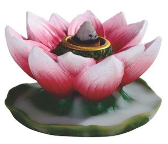 "3"" Wide, Backflow-Lotus Incense Burner"