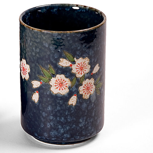 Blue Sakura Tea Cup