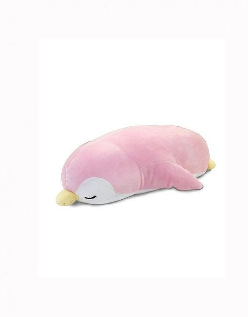 "19"" Mochy Plush Toys- Lying Penguin Pink"
