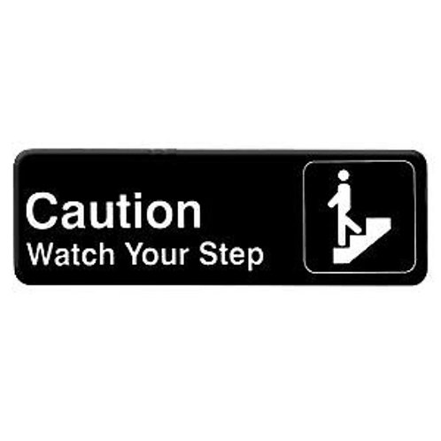 """9"""" X 3"""" , Caution Watch Your Step"""