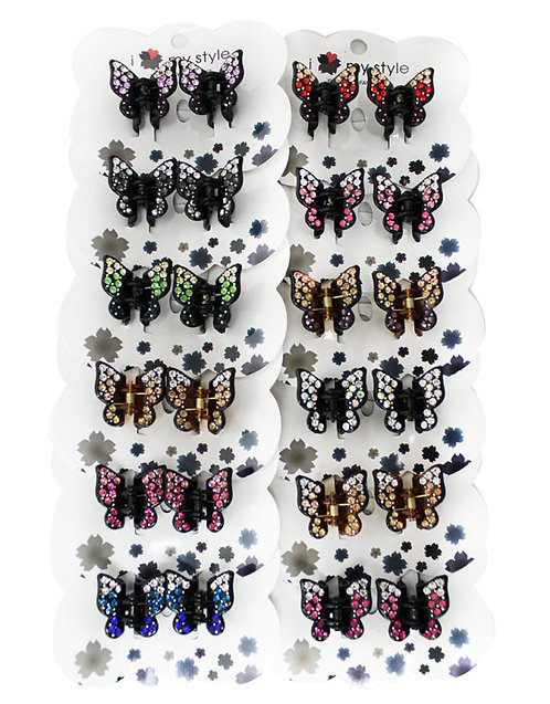 Hair Clip Butterflies Assorted Color