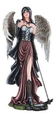 """Dark Angel Fairy with Scythe , 21"""" high"""