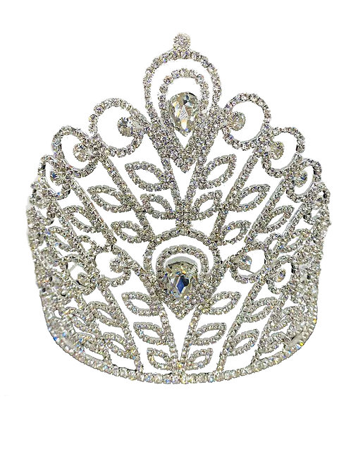 Tiara Silver Rhinestones & Crystal No.#1