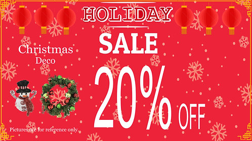 20% Off For Christmas Decoration
