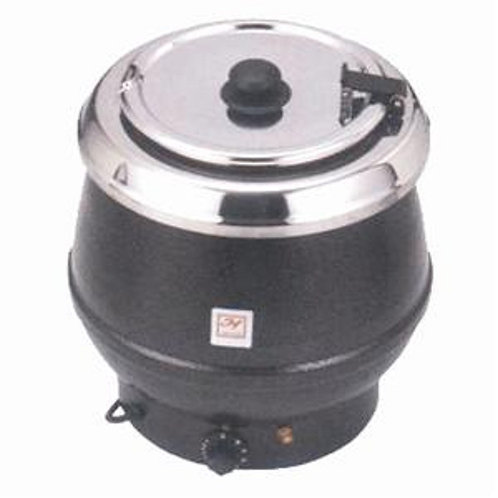 10 QT Stainless Soup Warmer, Brown Color