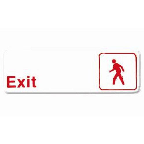 "9"" X 3"" , Exit"