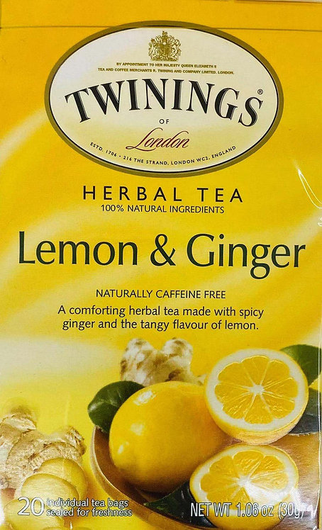 1.06oz Twinings Lemon and Ginger Tea