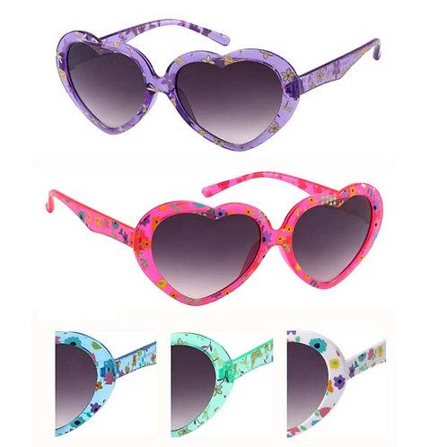 Kid's Plastic Sunglasses Heart Shape