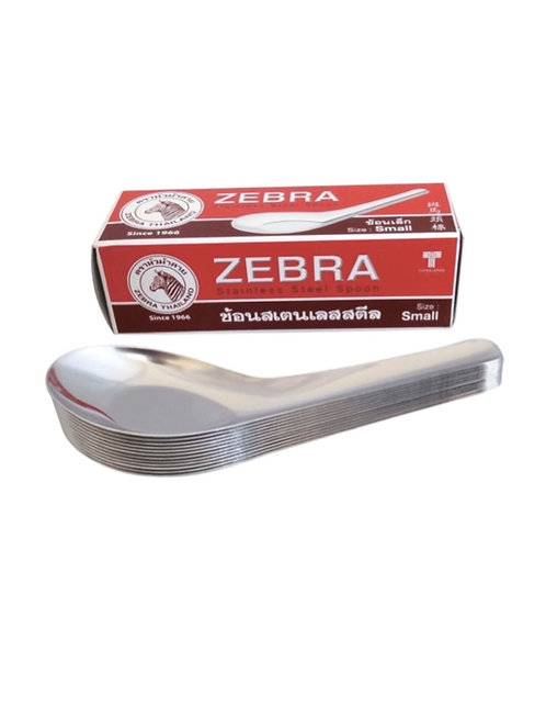 Zebra S/S Chinese Spoon - S