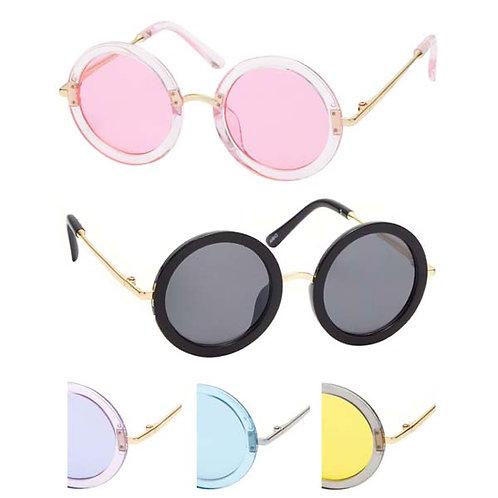Girl's Fashion Sunglasses Circle Design