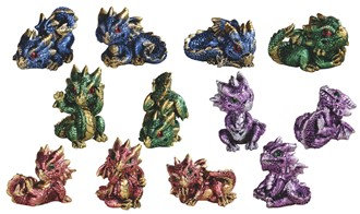 "2 1/2"", Mini Cute Dragon 12 PC Set"