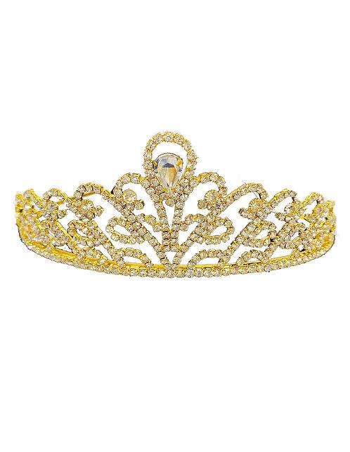 Tiara Gold Rhinestones & Crystal No.#15