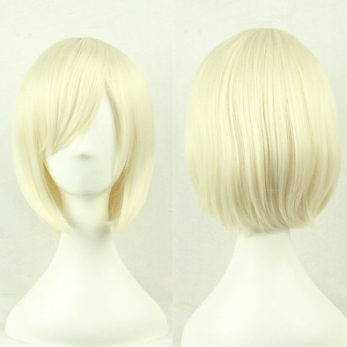 Blonde Straight Wig Synthetic Short