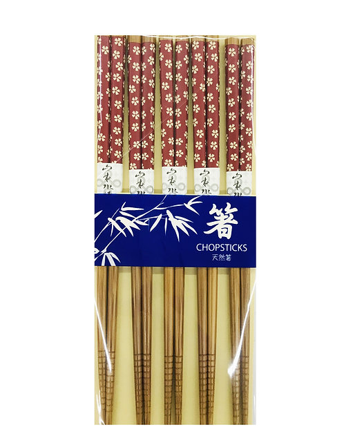5PR Bamboo Chopsticks Cherry Blossoms