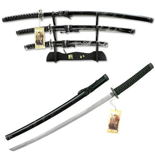 39.5'' Overall Samurai Sword Set, 3 Piece Set
