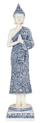 "14 1/4"", Blue/White Buddha"