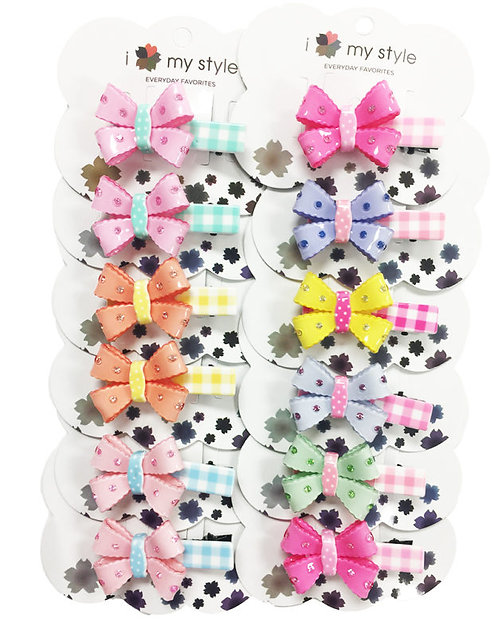 Hair Clip Bow Assorted Color