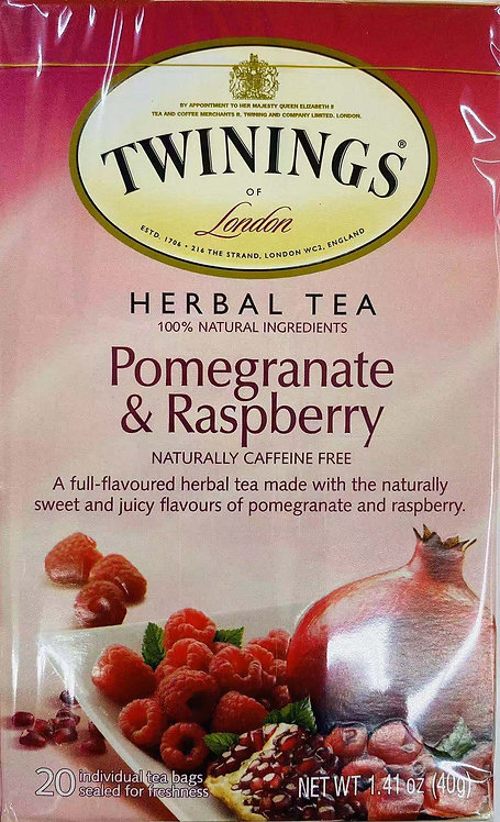 1.41oz Twinings Pomegranate and Raspberry Tea