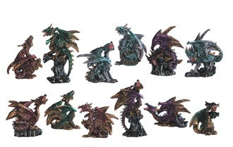 "2""-4"", Mini Dragon Color 12 PC Set"