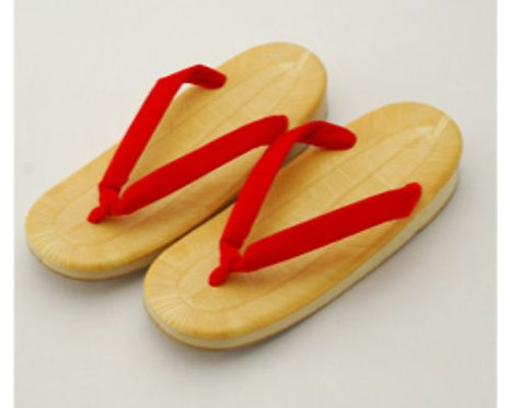 """9.5""""L, Red Japanese Sandals"""